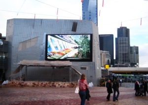 big screen where footie matches and other sporting events are watched