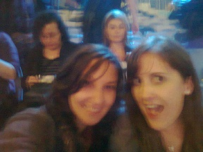 Blurry picture of Clem and I at the X-Factor Auditions