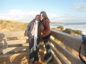 Becks and I at the beach - as you can tell it was a really WARM day