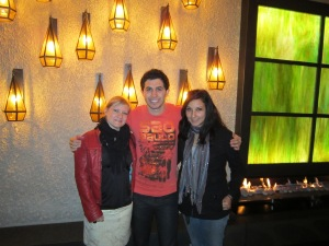Liz, Rali and I in the special VIP area at Crown Casino