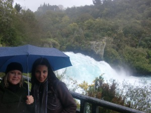 Liz and I at Huka Falls