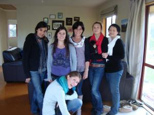 Alysia, Niki, Carina, Judy, Nicole and I at Nicole's place after the fair