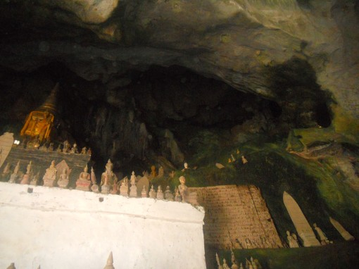 Pak Ou Cave with over 4000 buddahs