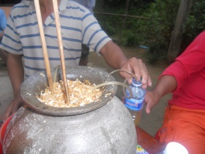 Lao Lao - Rice Whiskey being distilled lol